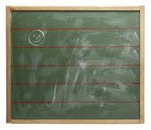 Chalkboard and smiley — Stock Photo