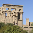 Sunny illuminated Temple of Philae in Egypt — Stock Photo