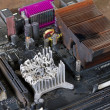 Stock Photo: Main board with molten heat sink