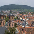 Miltenberg aerial view in sunny ambiance - Stock Photo