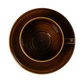 空の茶色の磁器のカップ — ストック写真
