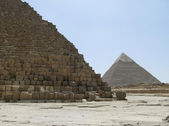 Pyramid of Khafre and Cheops — Stock Photo
