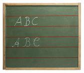 ABC blackboard — Stock Photo