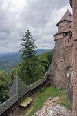 Cloudy scenery around Haut-Koenigsbourg Castle — Stock Photo