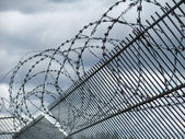 Safety fence detail — Stock Photo