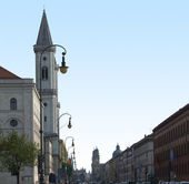 Detail of the Ludwigstrasse in Munich — Stock Photo
