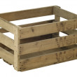 Wooden wine crate — Stock Photo