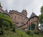 Haut-Koenigsbourg Castle in cloudy ambiance — Stock Photo