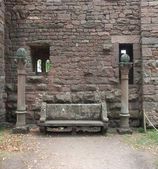 Architectural detail of the Haut-Koenigsbourg Castle — Stock Photo