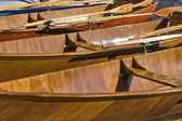 Wooden rowboats — Stock Photo