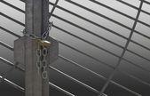 Metal lattice door — Stock Photo