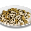 Porcelain plate with cat food — Stock Photo #7250358