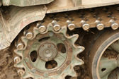 Tank chains detail — Stock Photo