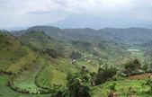 Virunga Mountains in stormy ambiance — Stock Photo