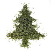 Fir needle christmas tree — Stock Photo