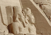 Sculptures at Abu Simbel temples in Egypt — Stock Photo