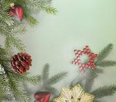 Decorative christmas back — Stock Photo