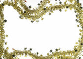 Frame with golden christmas garland — Stock Photo