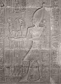 Ancient stone relief showing Pharao — Stock Photo