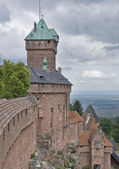 Haut-Koenigsbourg Castle in stormy ambiance — Stock Photo