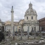 Trajans Column and Santa Maria di Loreto — Stock Photo