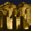 Illuminated temple in Egypt — Foto Stock