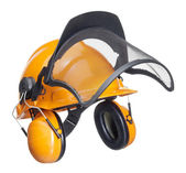 Protective helmet in white back — Stock Photo