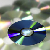 DVD in blurry back — Stock Photo