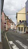 Cloudy street scenery in Selestat — Stock Photo