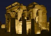 Illuminated temple in Egypt — Stock Photo