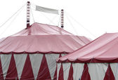Red and white big top — Stock Photo