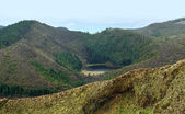 Overgrown hills at the Azores — Stock Photo