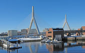 Boston harbour in sunny ambiance — Stock Photo