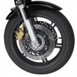 Motorbike front wheel — Stock Photo