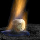 Burning stone — Stock Photo