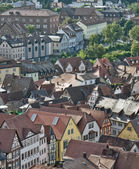 Wertheim aerial view at summer time — Stock Photo
