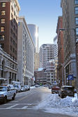 Boston street scenery at winter time — Foto de Stock