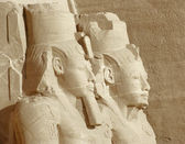 Figures at Abu Simbel temples — Stock Photo