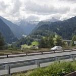 paysage alpin à l'heure d'été — Photo