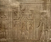 Ancient relief at the Temple of Kom Ombo — Stock Photo