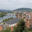 Miltenberg aerial view in sunny ambiance — Stock Photo
