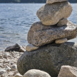 Stock Photo: Waterside scenery with pebble pile