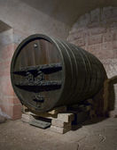 Historic cask at Haut-Koenigsbourg Castle — Stock Photo