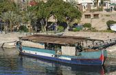 Old barge in Egypt — Stock Photo