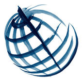 Globe illustration sketch — Stock Photo