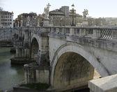 Ponte saint angelo in Rome — Stock Photo