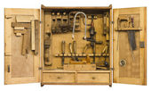 Historic tool cabinet — Stock Photo