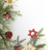 Detrás de navidad decorativos — Foto de Stock