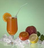 Glass of fruit juice — Stock Photo