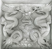 Chinese firedrake relief — Stock Photo